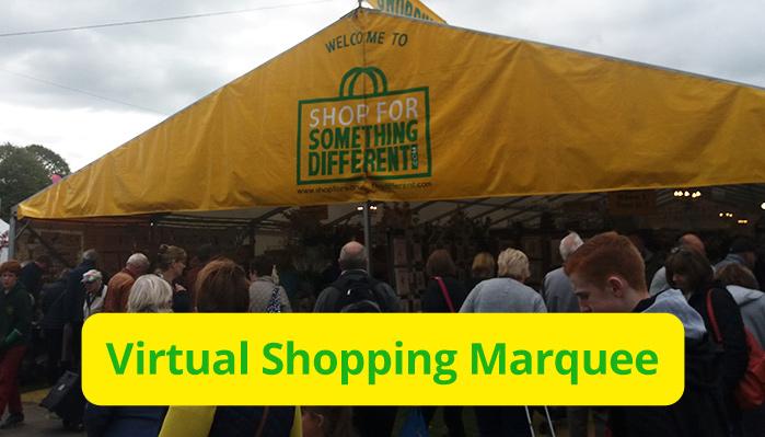 Virtual Shopping Marquee