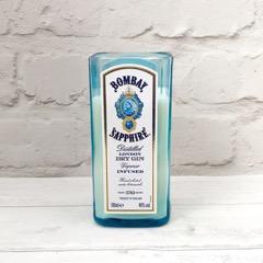 Upcycled Bombay Sapphire Bottle Candle
