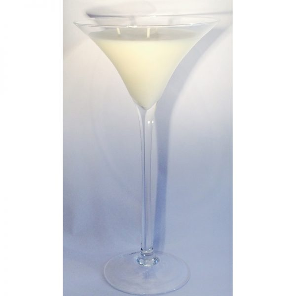 Martini Glass Soy Candle