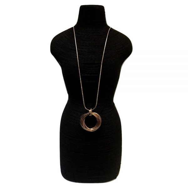 Rose Gold Hoopy Necklace