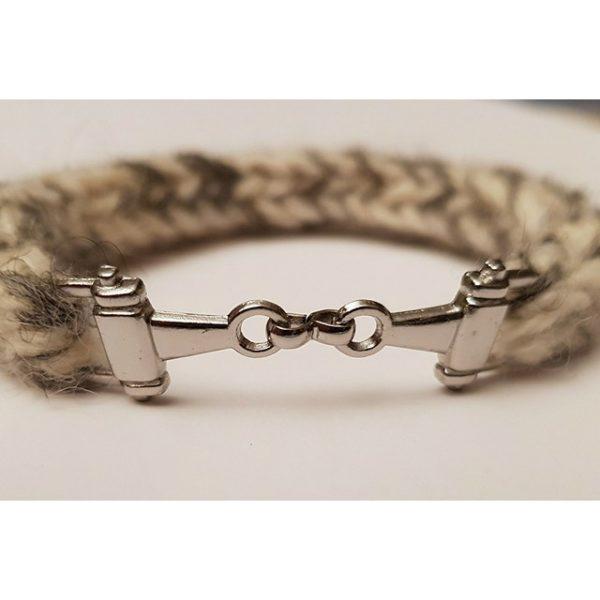 Silver Snaffle Piebald Bracelet