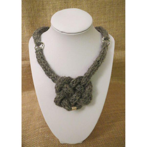Steel Celtic Heart Necklace