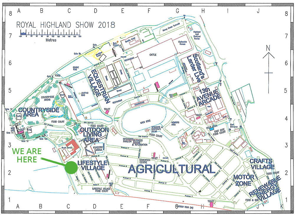 Royal Highland Show Map