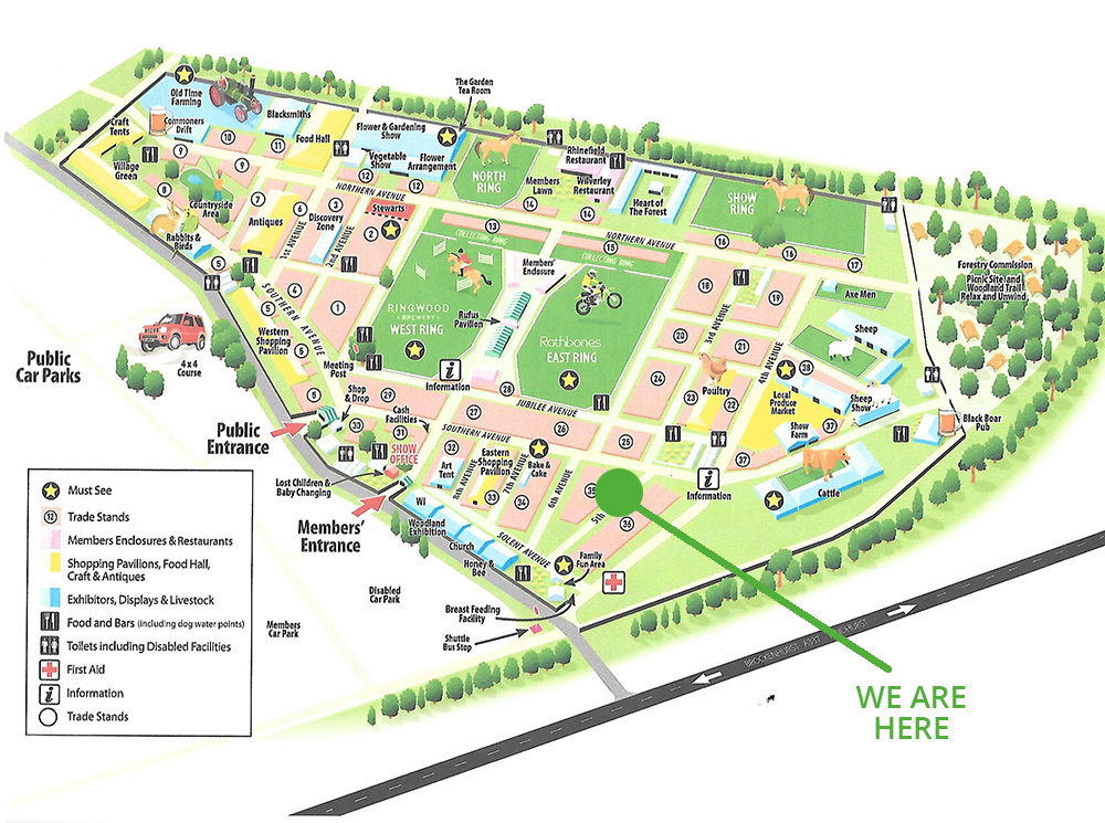 New Forest Show map