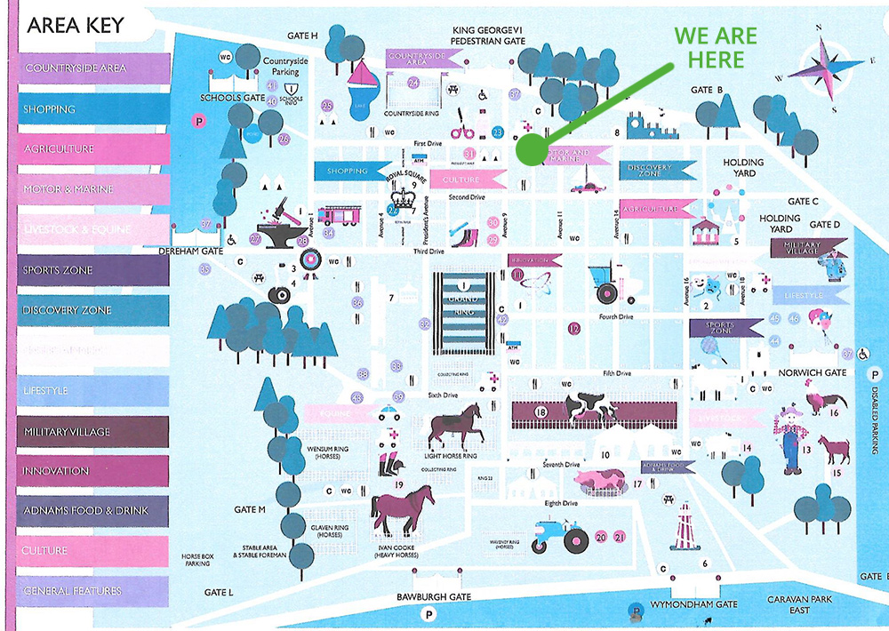 Royal Norfolk Show Map