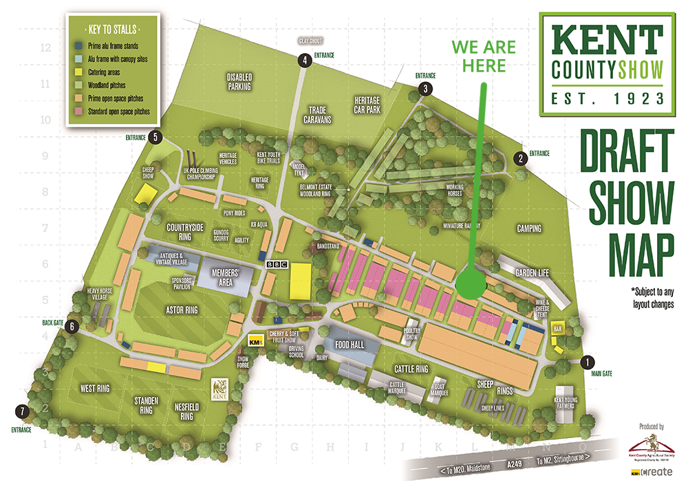 Kent County Show Map