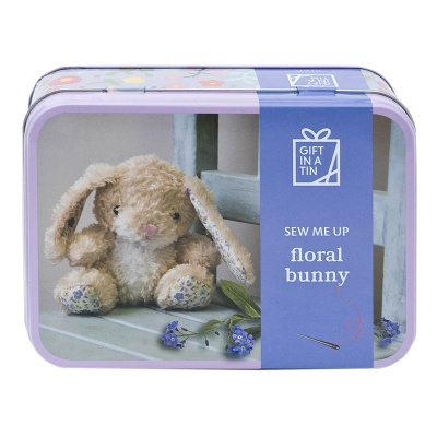 Floral Bunny in a tin
