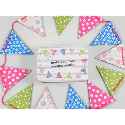 Make your own wooden bunting