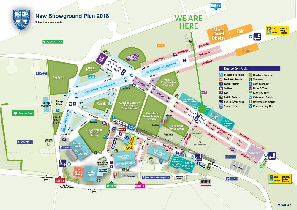 Pembrokeshire Show map