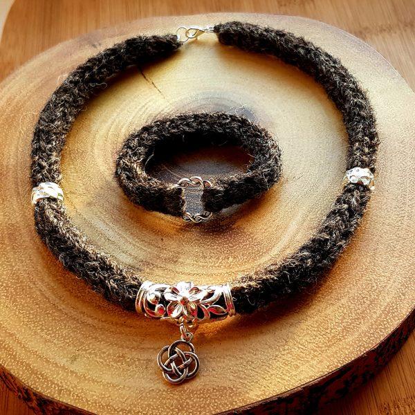 The Celtic Ramiro Necklace Dark Grey