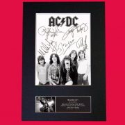 AC/DC Signed Reproduction Print