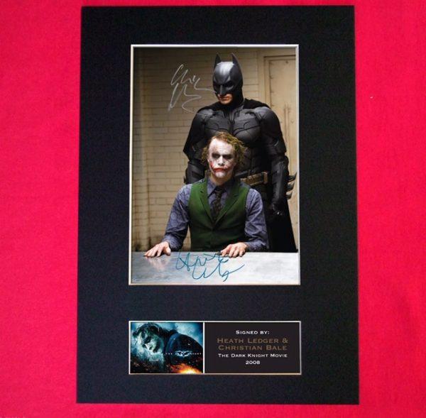 Batman Joker Dark Knight Signed Reproduction Print