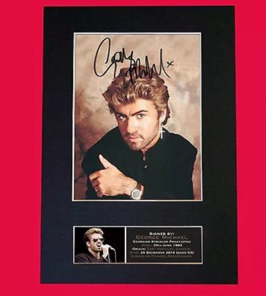 George Michael Signed Reproduction Print
