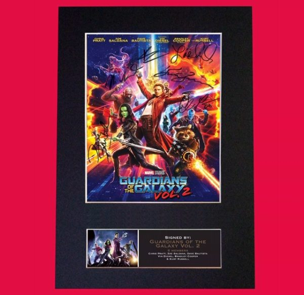 Guardians of the Galaxy Signed Reproduction Print