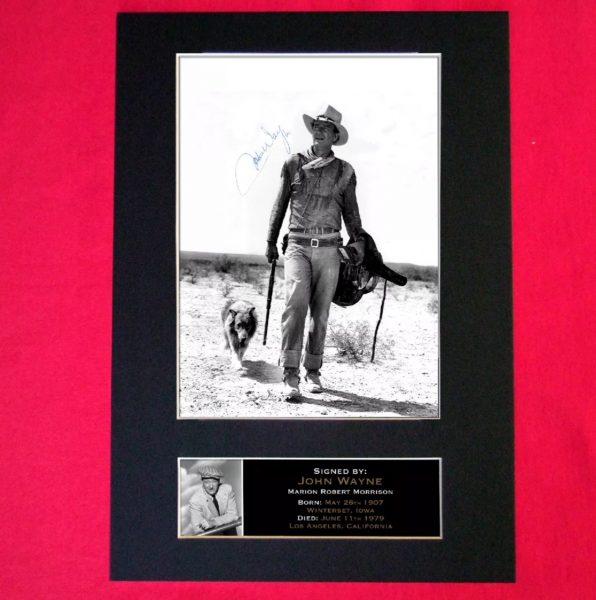 John Wayne Signed Reproduction Print