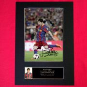 Messi Barcelona Signed Reproduction Print