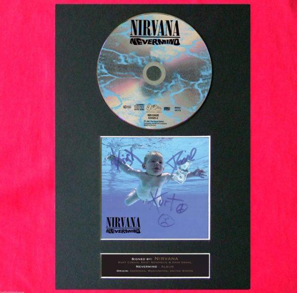 Nirvana CD Signed Reproduction Print