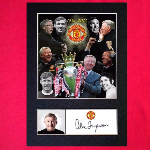Alex Ferguson Signed Reproduction Print