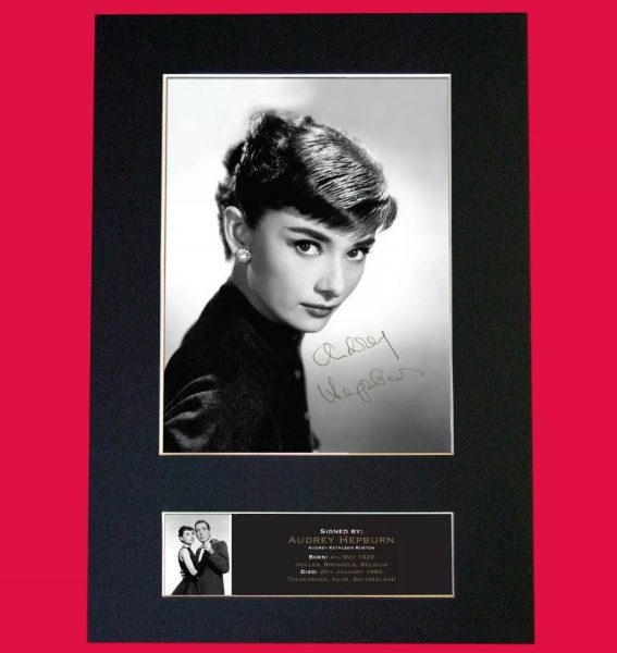 Audrey Hepburn Signed Reproduction Print
