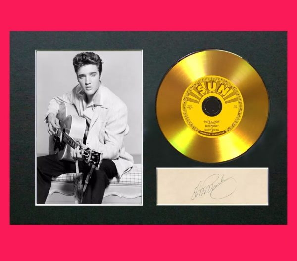 Elvis Presley Gold CD Signed Reproduction Print