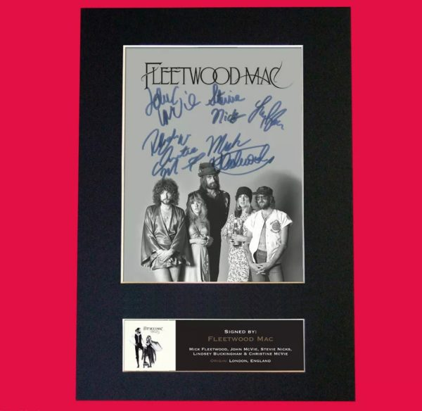 Fleetwood Mac Signed Reproduction Print