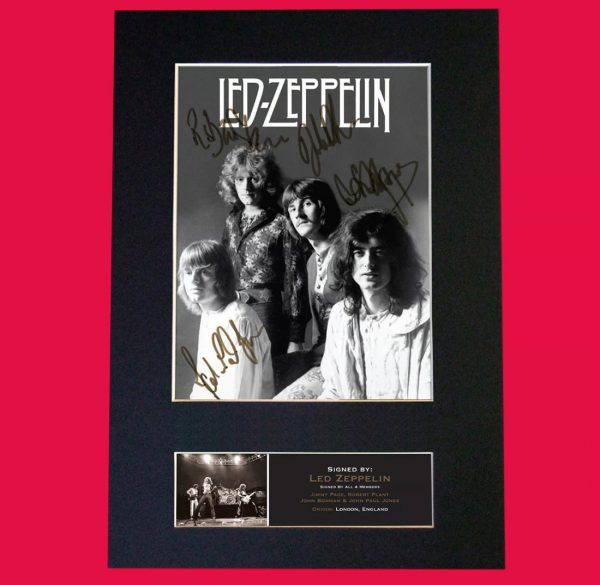 Led Zeppelin Signed Reproduction Print