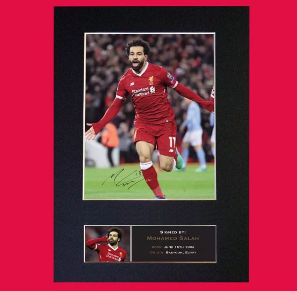 Mo Salah Signed Reproduction Print