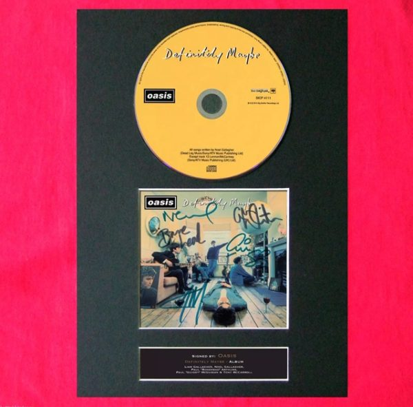 Oasis CD Signed Reproduction Print
