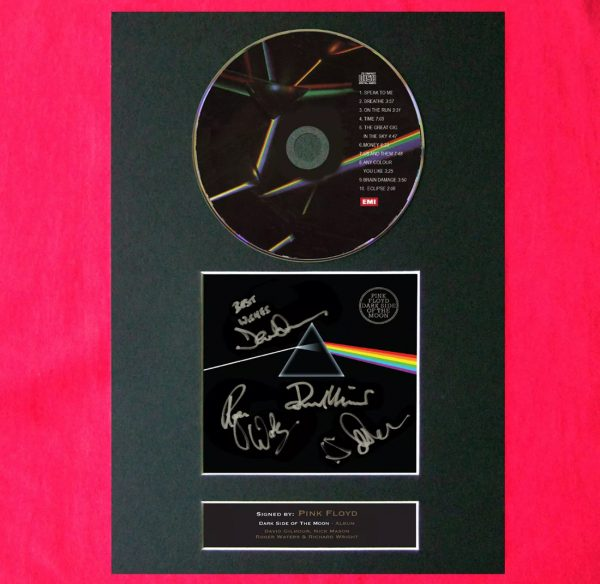 Pink Floyd CD Dark Side of the Moon Signed Reproduction Print