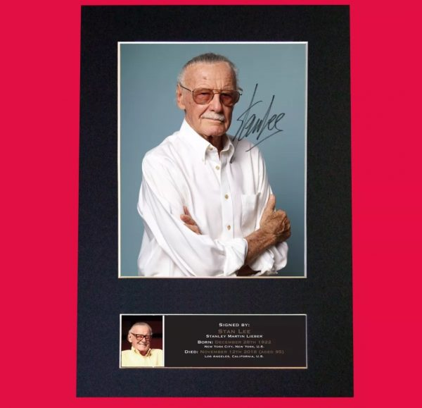 Stan Lee Signed Reproduction Print