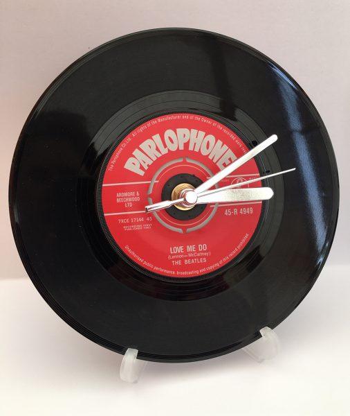 "Beatles 7"" Record Clock"