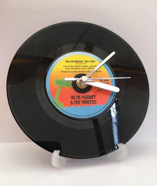 "Bob Marley 7"" Record Clock"