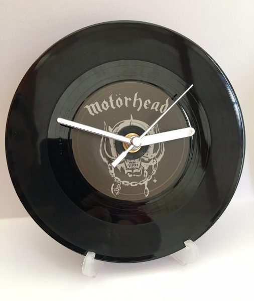 "The Motorhead 7"" Record Clock"