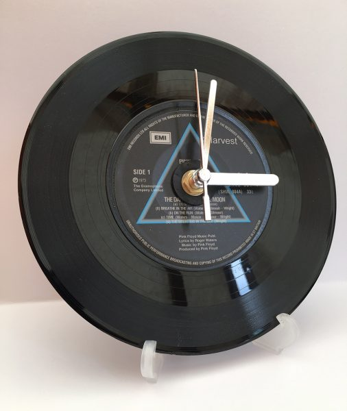 "Pink Floyd Dark Side Of The Moon 7"" Record clock"