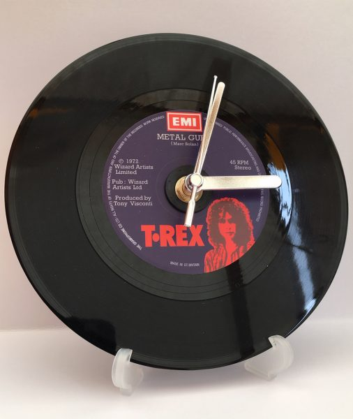 "The T-Rex 7"" Record Clock"