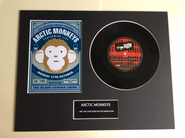 "Arctic Monkeys Mounted 7"" Vinyl Record Display Picture"