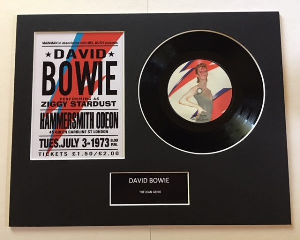 "David Bowie Jean Genie 7"" Vinyl Record Display Picture"
