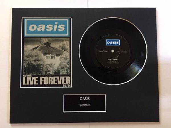 "Oasis Live Forever 7"" Vinyl Record Display Picture"