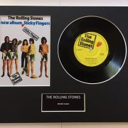 "The Rolling Stones Brown Sugar 7"" Vinyl Record Display Picture"