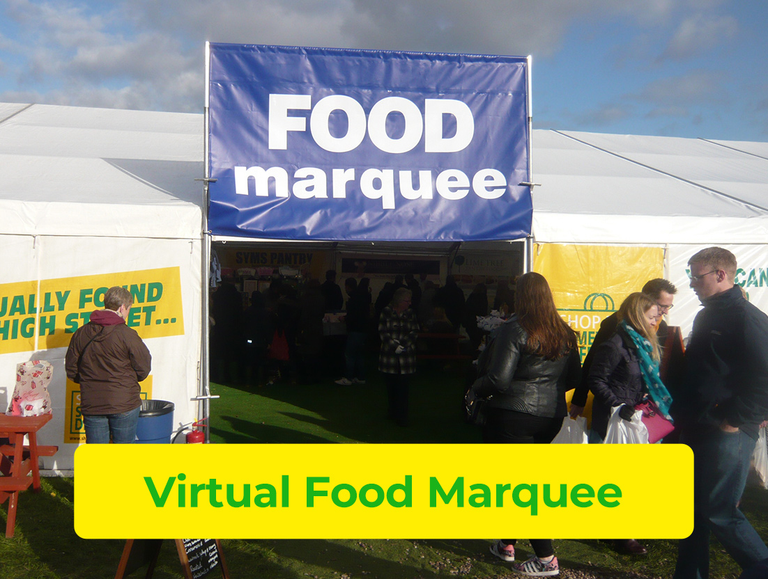 Visit Our Virtual Food Marquee
