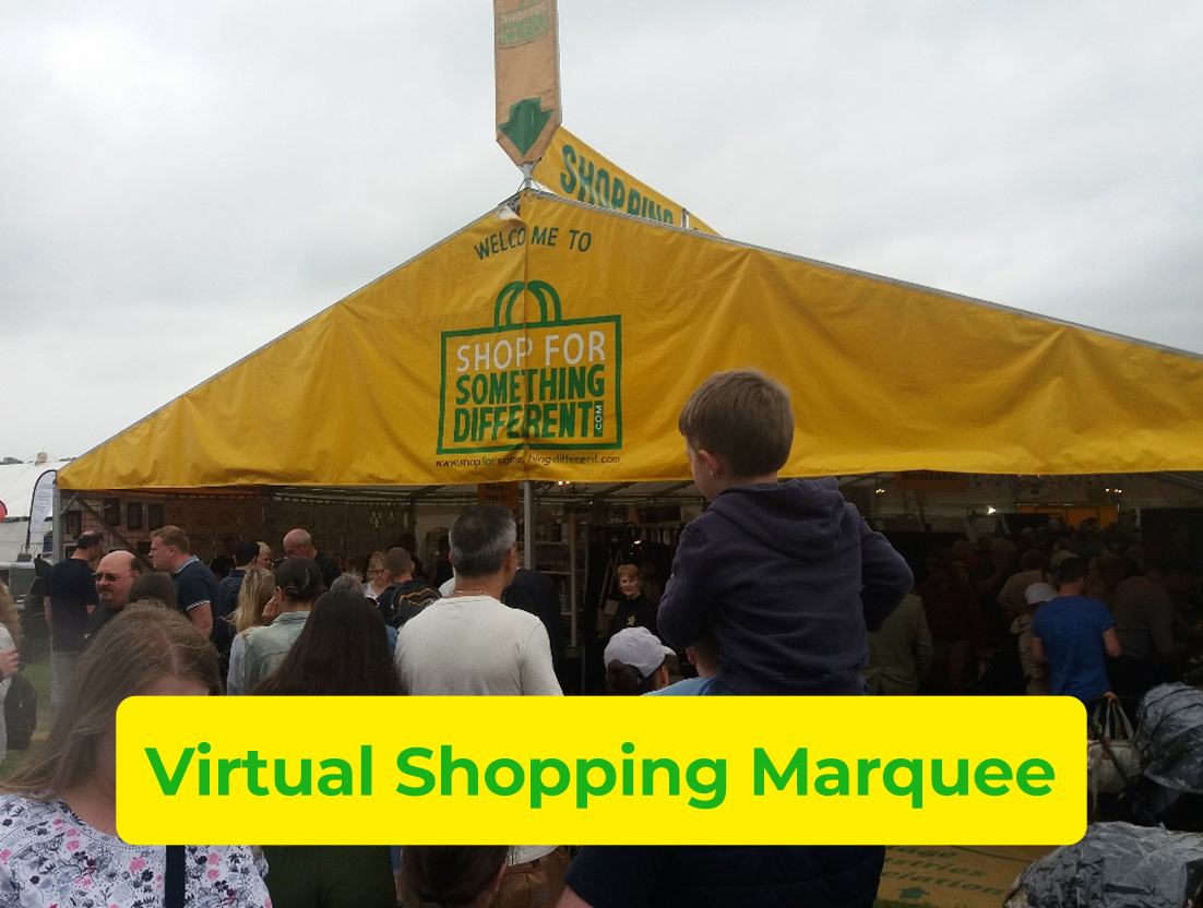 Visit Our Virtual Shopping Marquee